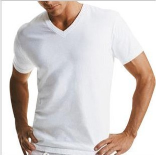 Cotton-Spandex-Plain-White-Sexy-Men-s-T-Shirt-xy78487-