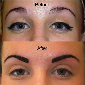 Permanent-Eyebrows-before-and-after-They-look-thicker-bushier-and-fuller.