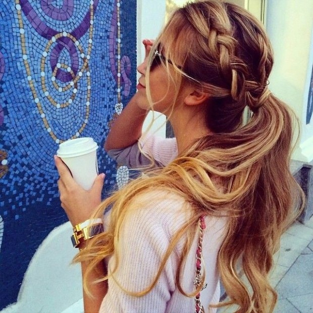 Cute-Braid-with-Ponytail-Long-Hairstyles-for-Spring-and-Summer-2015
