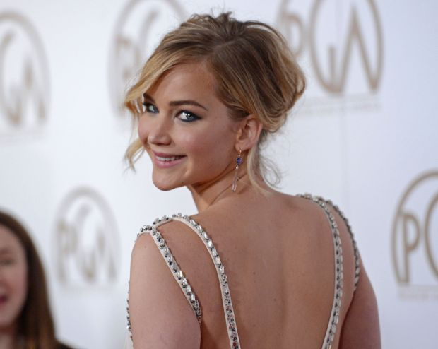 jennifer lawrence bare back reuters