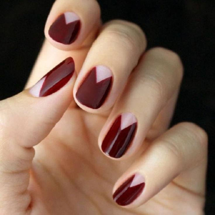nails-2016-nail-art-trends-fall-2015-winter-red-triangle-negative ...